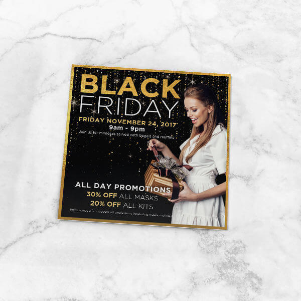 Bonness Skincare Black Friday Card