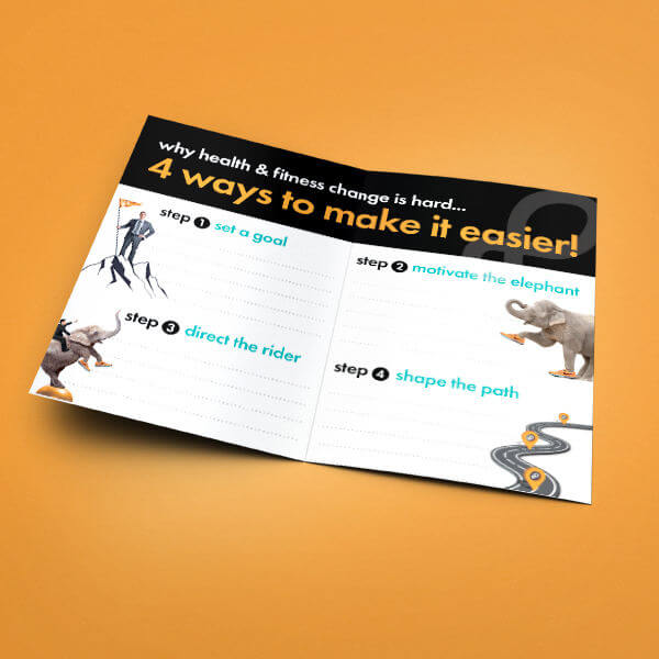Orange Shoe Personal Fitness Training Informational Brochure