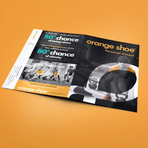 Orange Shoe Personal Fitness Training Brochure
