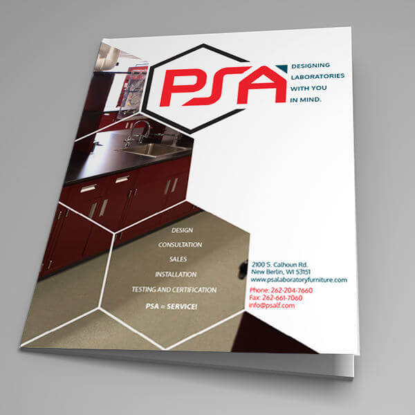 PSA Product Brochure Cover Design