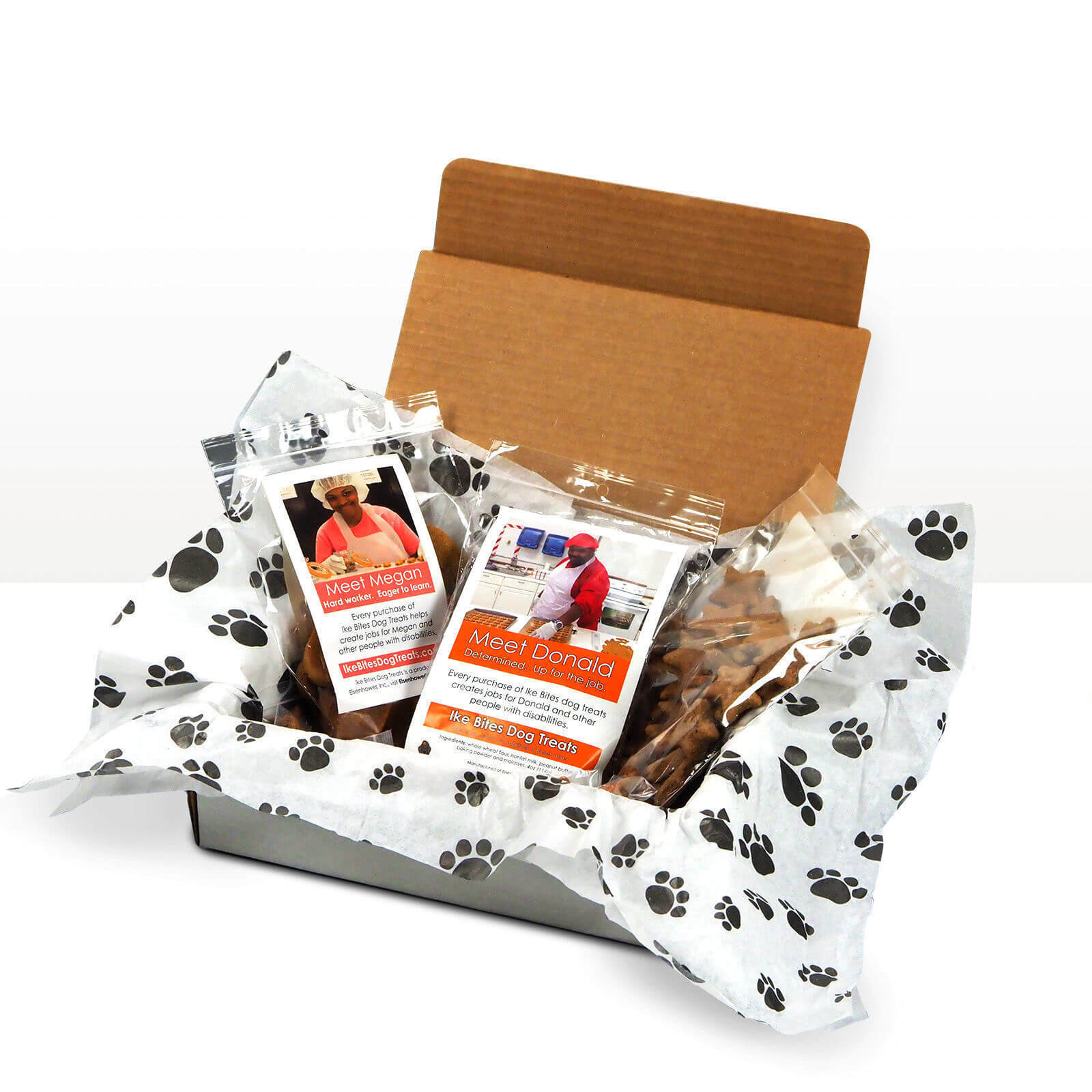 Dog Treat Packaging photographed for Ike's Bites, a Non-profit in Wisconsin