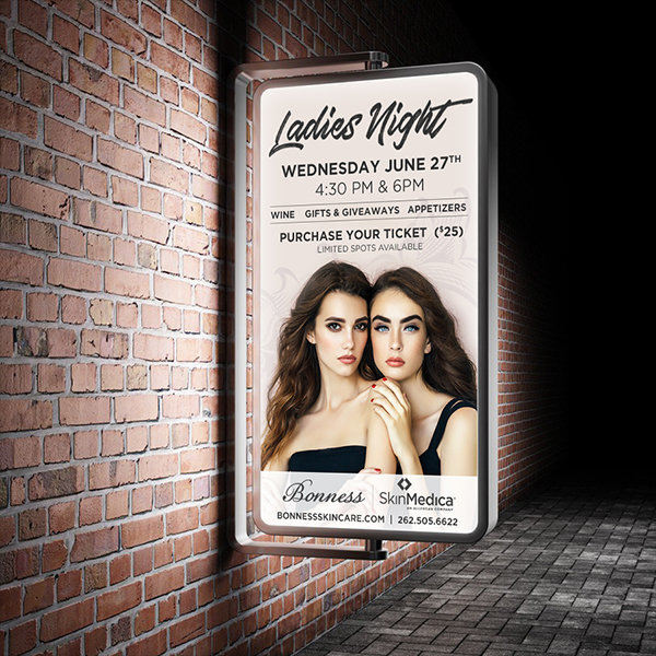 Bonness Skincare Ladies Night Digital Sign