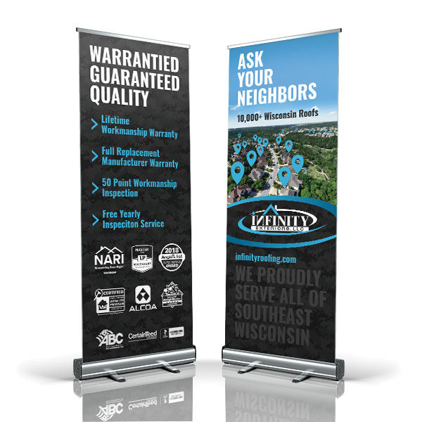 Infinity Exteriors, LLC Tradeshow Banners