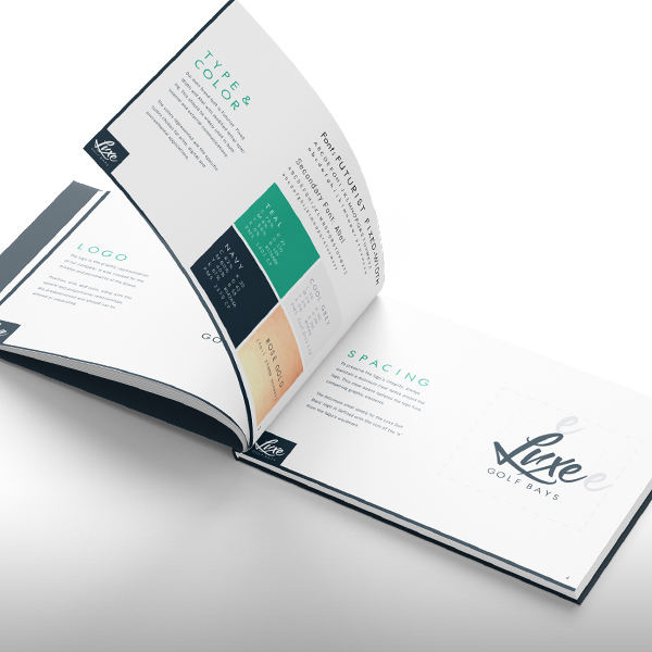 Luxe Golf Bays Brand Guideline Book 1st Alternate