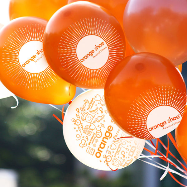Orange Shoe Display Balloons