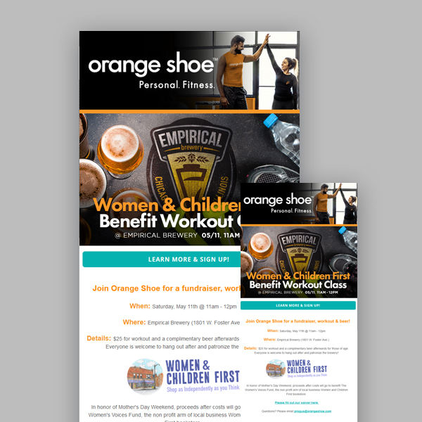 Mass EMail design for Orange Shoe
