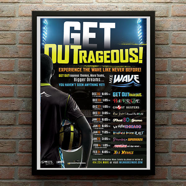 Milwaukee Wave Get Outrageous Event Poster