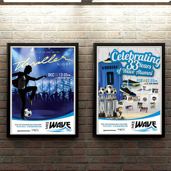 Event Poster Designs for Milwaukee Wave