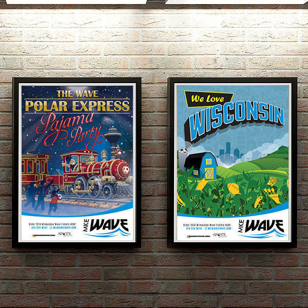 Event Posters for Milwaukee Wave